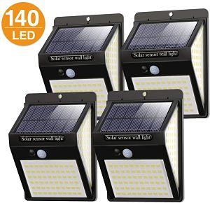 4 lamparas solares para jardín