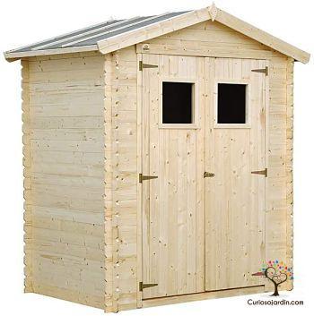 caseta de jardín de madera