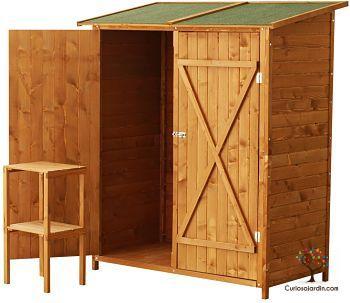 caseta de jardin de madera