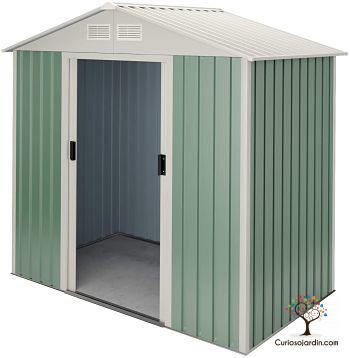 caseta de jardin metalica verde